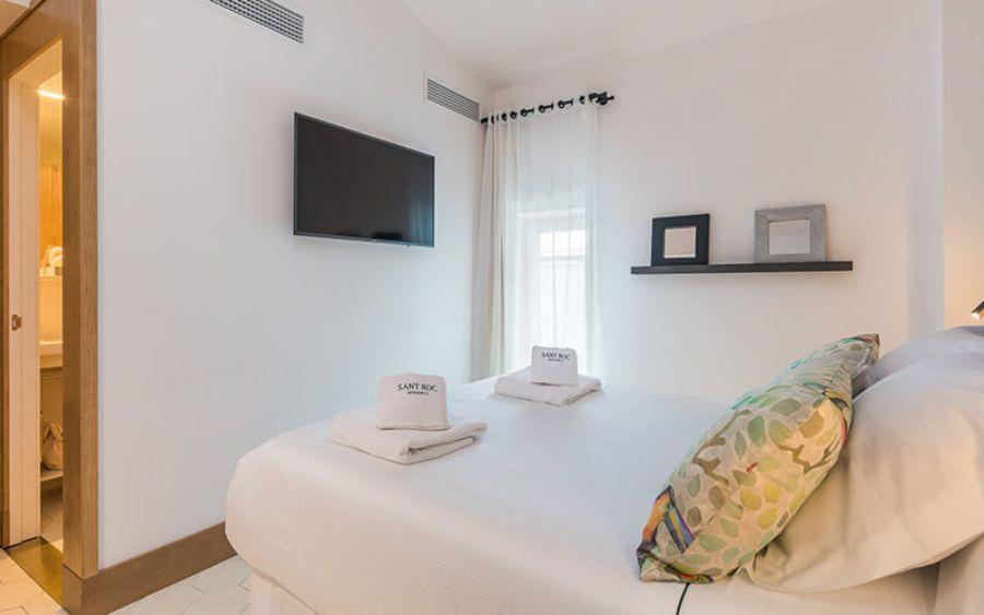 Chambres double boutique h tel sant roc spa mah n for Boutique hotel minorque